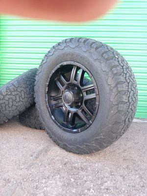 """18'"""" off road rims and BFGoodrich tires for Sale in Las Vegas, NV"""