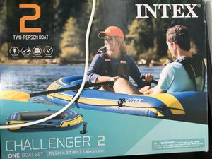Challenger 2, 2-Person Inflatable Boat Set with French Oars and High Output Air Pump (Latest Model for Sale in Irving, TX