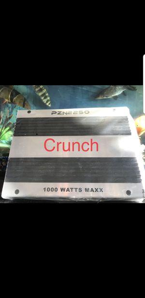 Crunch 1000watt amp brand new with warranty for Sale in Pomona, CA