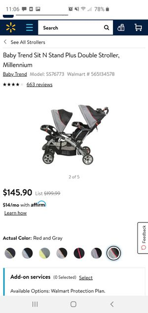 Baby Trend Sit and Stand for Sale in Puyallup, WA