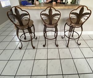 Bronze and suede barstools for Sale in Elmira, NY