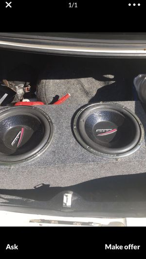2-12 inch Audiobahn subs in a sealed box for Sale in Indianapolis, IN