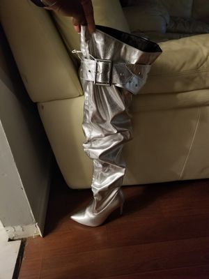 Silver Thigh high Boots for Sale in Riverdale, GA