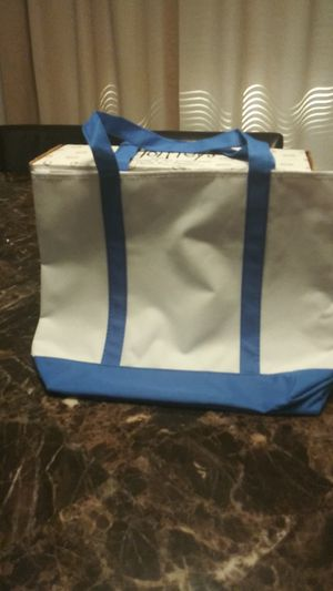 Blue and white tote bag for Sale in TEMPLE TERR, FL