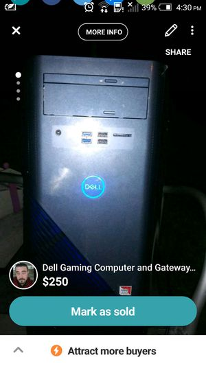 "Dell gaming computer + 19-21"" Gateway tv/monitor for Sale in St. Louis, MO"