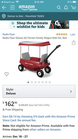 Mint Condition (Like New)- Radio Flyer Deluxe Wagon for Sale in Mansfield, TX