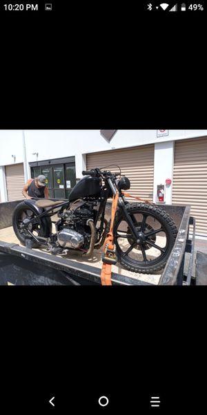 Custom Bobber motorcycle Kawasaki kz400 ( Trade for g-body 60s thru 80s ) for Sale in Las Vegas, NV