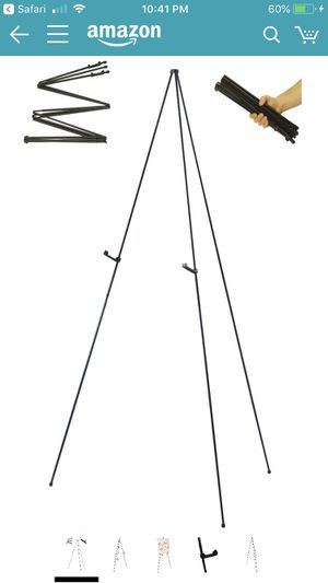 """24 """"Easy-Folding Easel"""" Black Steel 63"""" Tall Display Easels for Sale in Miami, FL"""