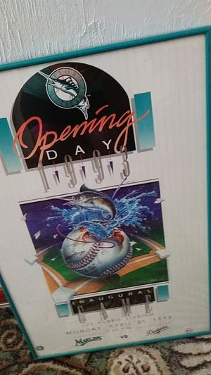 Marlins opening day 1993 vs dogers for Sale in Fort Lauderdale, FL