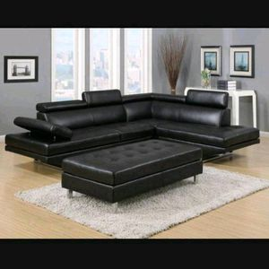 BEST SELLER! WHITE OR BLACK IBIZA SECTIONAL AND OTTOMAN! NO CREDIT NEEDED FINANCING! SAME DAY DELIVERY for Sale in Brandon, FL