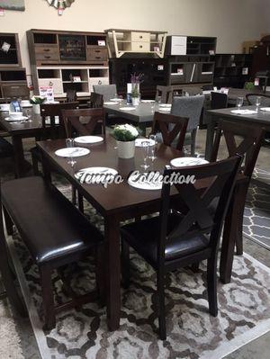 6 PC Dining Set, Espresso, SKU# PDXF2297TC for Sale in Santa Fe Springs, CA