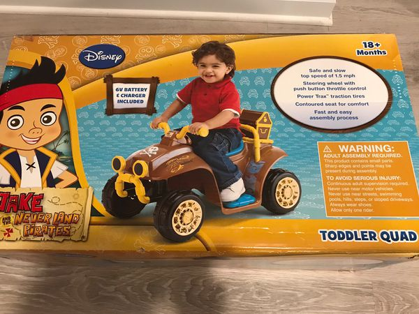 Disney Jake the Pirate Kids Electric Motor Toy Car Brand New