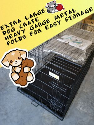 Extra Large Dog crate Brand New Condition with heavy duty easy cleaning liner for Sale in Hillsborough, NC