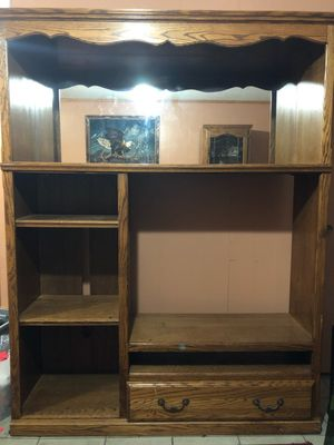 Solid oak entertainment center for Sale in Dellwood, MN
