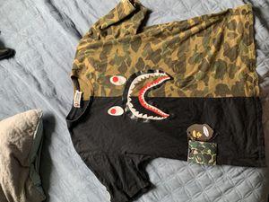 BAPE shirt xxl in kids fits medium in men for Sale in Tustin, CA