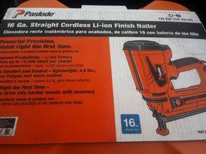 Paslode finish nail gun new for Sale in Columbus, OH