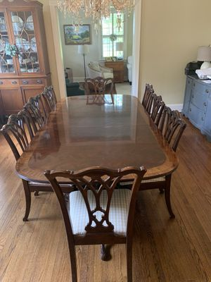 Luxury Solid Mahogany Dining Table w/10 Chairs for Sale in Loudon, TN
