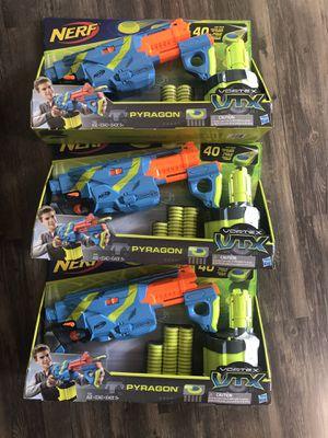 NEW Nerf Vortex Pyragon Guns w disc for Sale in Minneapolis, MN