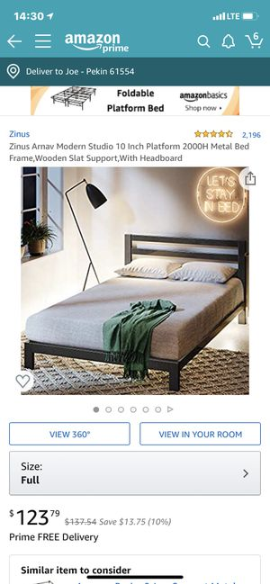 Zinus Full size bed frame for Sale in Pekin, IL