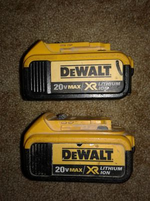2 DEWALT 4 A/H BATTERIES for Sale in Willow Street, PA
