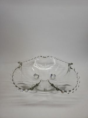 """Vintage Imperial Candlewick 9"""" Four Toed Ruffled Dish for Sale in Leopold, IN"""