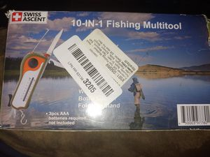 Swiss Ascent 10 In 1 Fishing Multitool for Sale in Fontana, CA