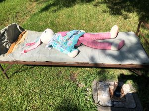 Antique Cot and sleeping bag for Sale in League City, TX