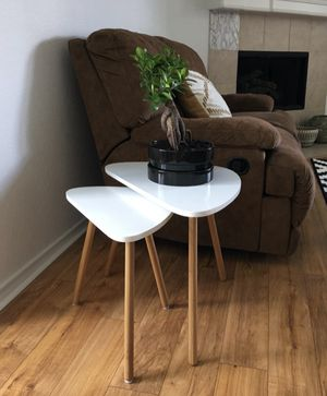 TWO (2) WHITE END TABLES (Read Description) for Sale in Houston, TX