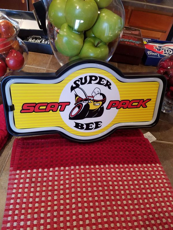Car Dealerships Vancouver Wa >> Neon led scat pack bee logo muscle car Plymouth lighted ...