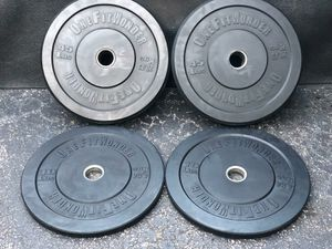 BUMPER PLATES : PAIRS OF : 45 LB. & 10 LB : OneFitWonder BUMPER PLATES for Sale in Deerfield Beach, FL