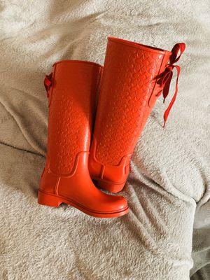 Coach rain boots for Sale in Oak Glen, CA