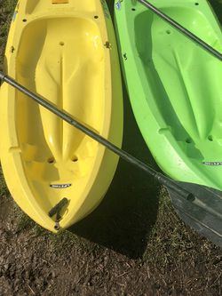 2 Youth Kayaks With Paddles for Sale in Gresham,  OR