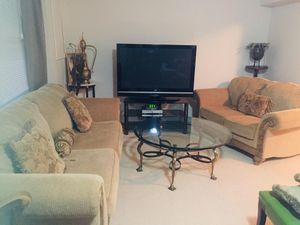 Sofa Set With Round Table & Pillows for Sale in Alexandria, VA
