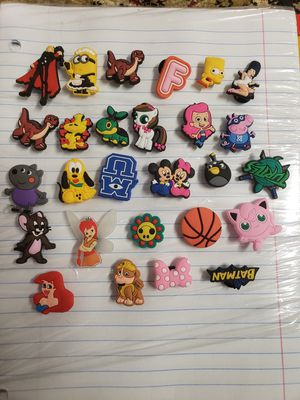27pcs Cute Girls Shoe Charms for Shoes with Holes & Wristband Bracelet Party Gifts Great Present for Kids Treasure Box Toys, Cute for Sale in Louisville, KY