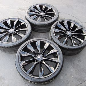 "21"" oem Tesla Model S factory wheels 21 inch gloss black rims Tesla s for Sale in Irvine, CA"