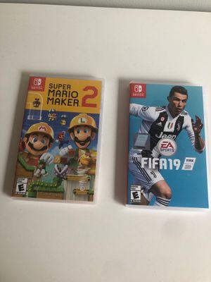 Super Mario Maker 2 and FIFA 19 for Sale in Herndon, VA