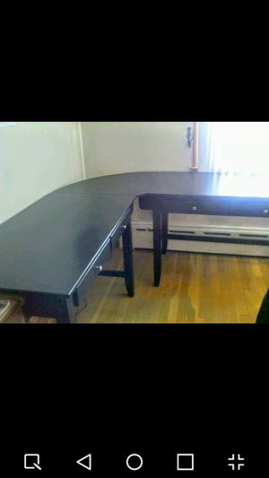 Dual Student Desks with corner printer stand and 2 hutches. (Cover photo does not show hutches.) for Sale in Hudson, MA