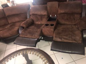 Theater sofa & table and tv stand included NEED GOON FAST. Delivery available for Sale in Miami, FL