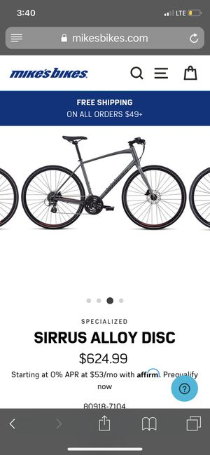 Specialized sirrus m size for Sale in San Jose, CA