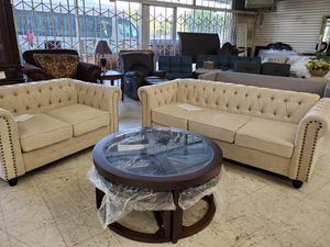 New Glass Coffee Table with Stools for Sale in Fresno, CA