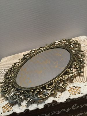 Beautiful Gold Filigree Wall Mirror Perfect condition 13x10 inches for Sale in Riverside, CA