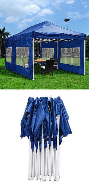 Brand New $190 Heavy-Duty 10x20 Ft Outdoor Ez Pop Up Party Tent Patio Canopy w/Bag & 6 Sidewalls, Blue for Sale in South El Monte, CA