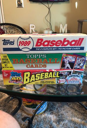 Topps Baseball Cards - Full Sets for Sale in Braintree, MA