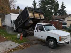 Chevy 3500 flatbed dump for Sale in Kent, WA