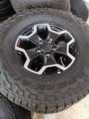 """17"""" Jeep Wrangler Gladiator Rubicon Wheels Rims Rines and Tires Llantas for Sale in Anaheim, CA"""