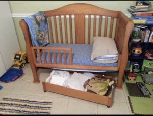 Crib shown as toddler and changing table for Sale in Lake Worth, FL