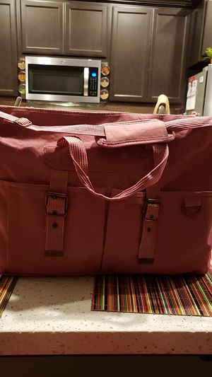 """Pink Duffle Bag New 22"""" long 12"""" tall for Sale in Manteca, CA"""