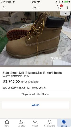 New work boots men size 13 for Sale in San Diego, CA