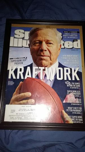 NEW ENGLAND PATRIOTS OWNER ROBERT KRAFT SPORTS ILLUSTRATED FRONT COVER for Sale in Yardley, PA