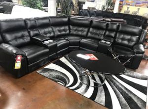 Black Power Reclining Sectional for Sale in Chicago, IL
